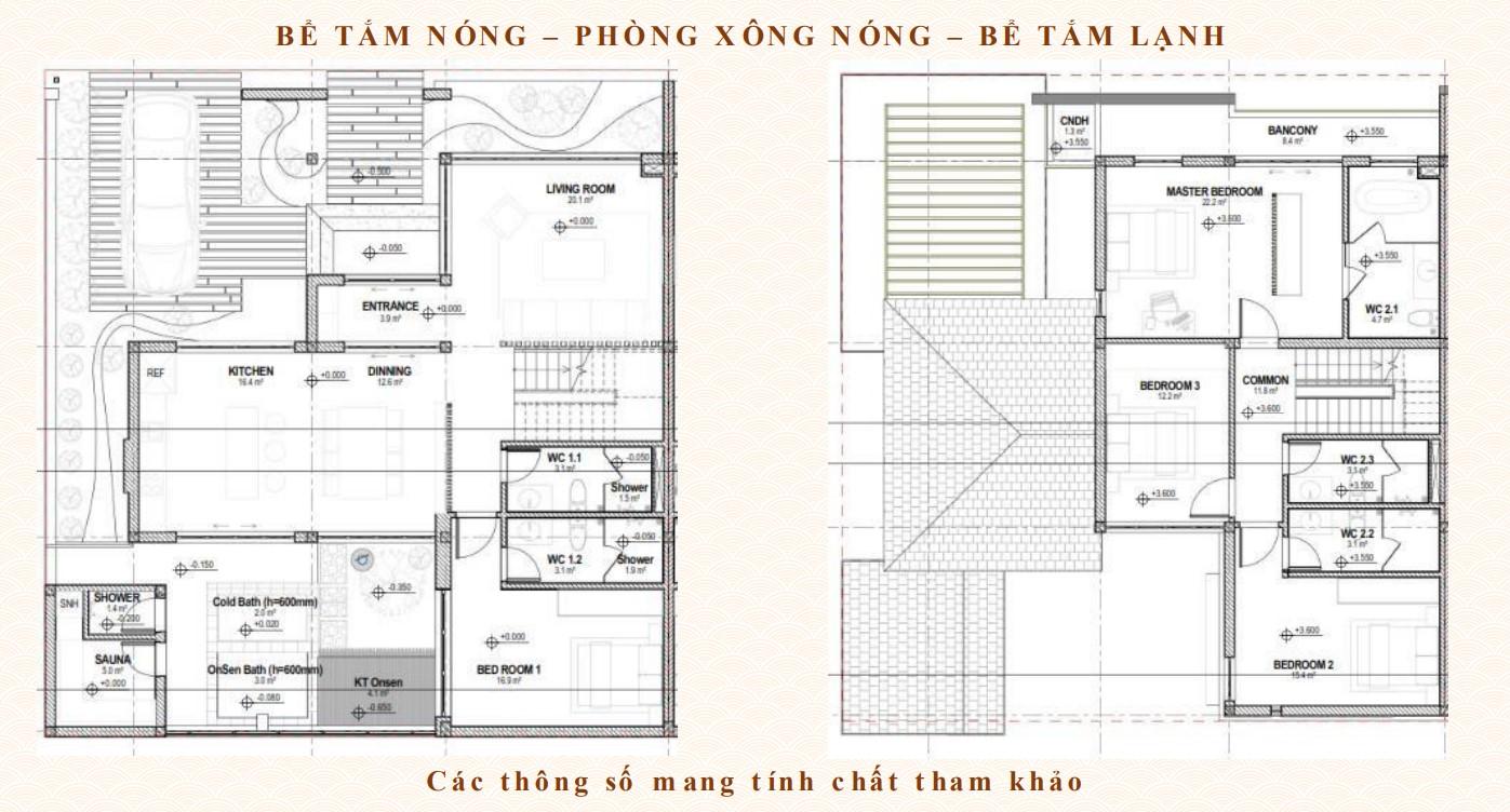 Thiết kế biệt thự dự án Sun Onsen QUang Hanh